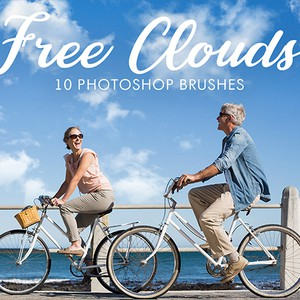 10 Free Realistic Cloud Photoshop Brushes