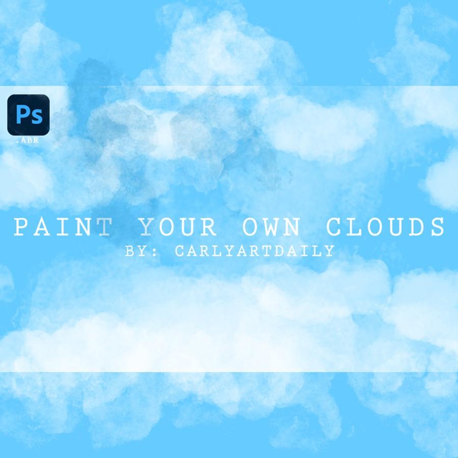 Photoshop brushes clouds set
