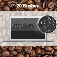 20 Coffee Stain Free Brushes