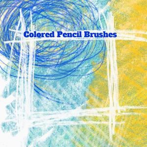 15 Colored Pencil PS Brushes