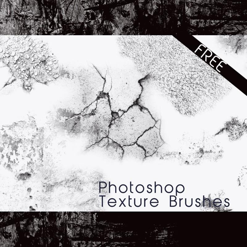 Photoshop brushes cracking, grunge, texture