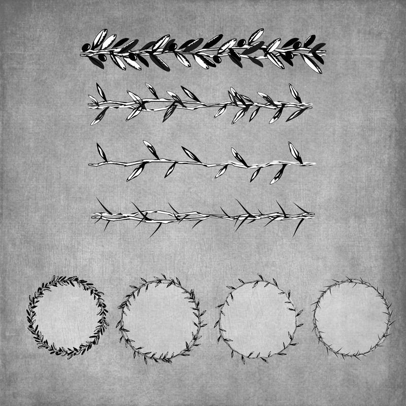 Photoshop brushes thorns