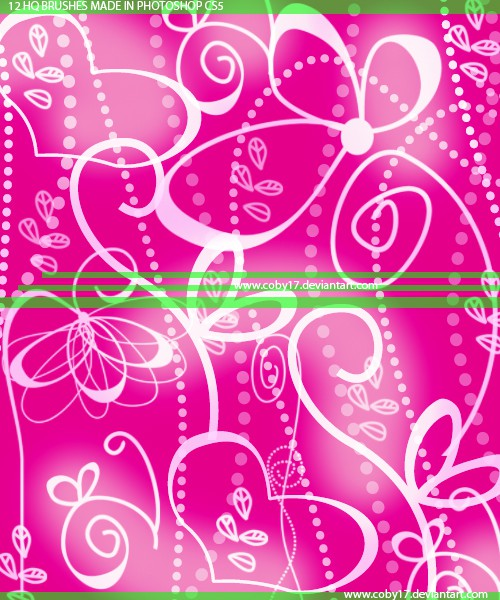 Photoshop brushes flower, swirls