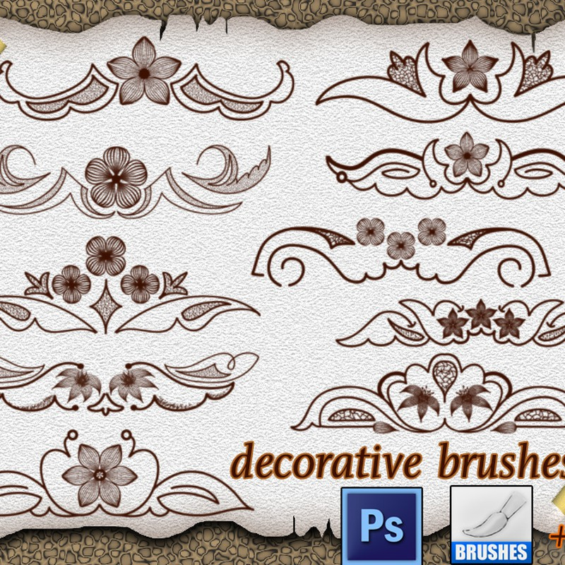 Photoshop brushes floral, elements
