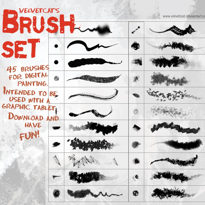 Photoshop brushes stroke, texture