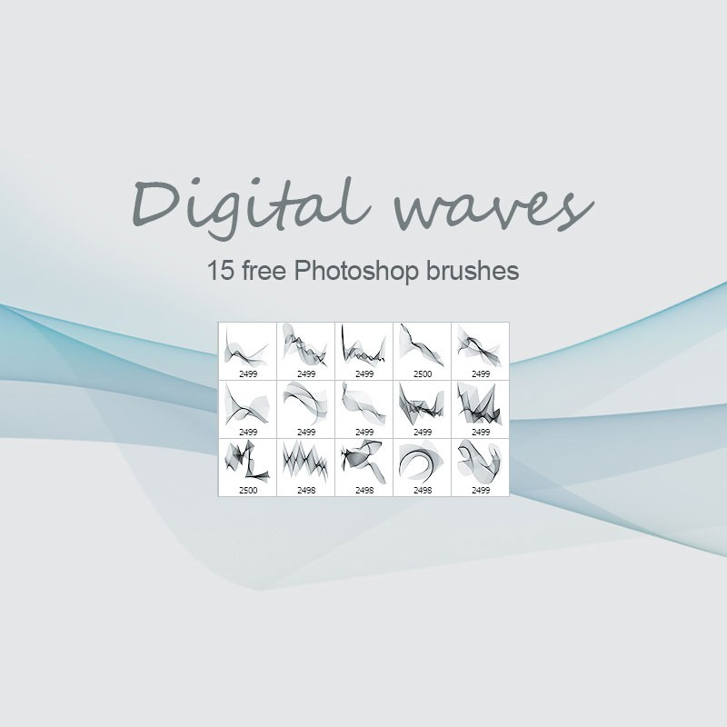 Photoshop brushes abstract waves