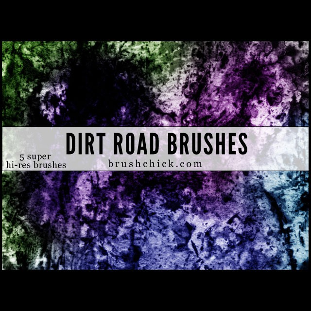 Photoshop brushes dirt, texture, road