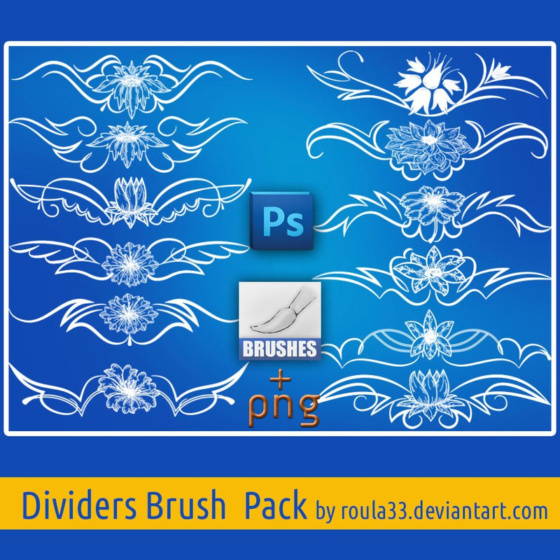Photoshop brushes dividers