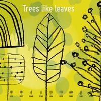 Doodle Trees Like Leaves
