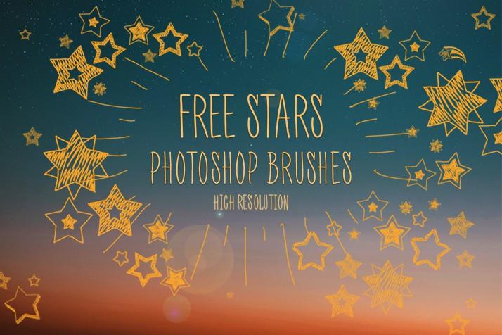 Photoshop brushes doodle, stars