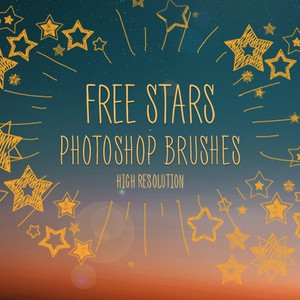 Free Photoshop Star Brushes by FixThePhoto