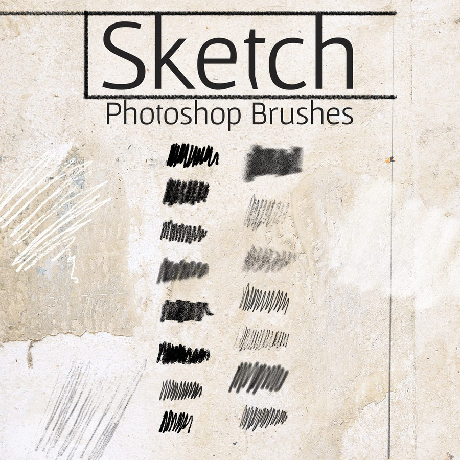 Photoshop brushes draw, sketch