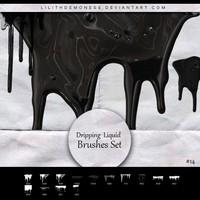 14 Dripping Liquid Brushes