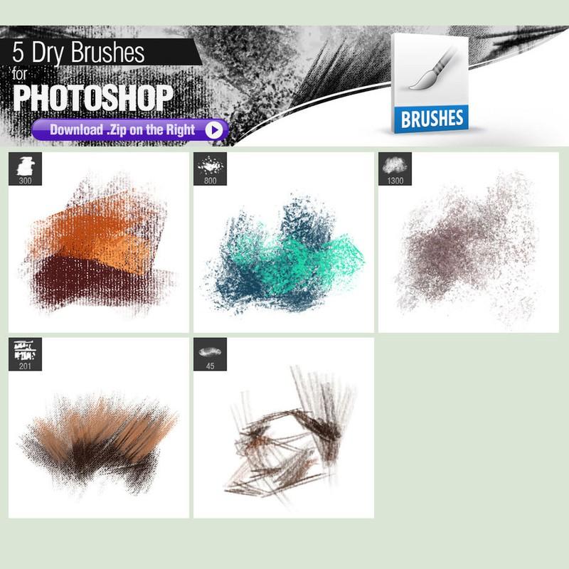 Photoshop brushes crayons, pastels, texture