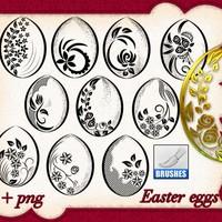 Easter Eggs Brushes