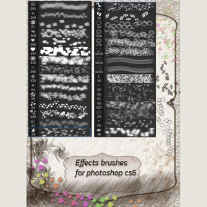 30 Effects Photoshop Brushes