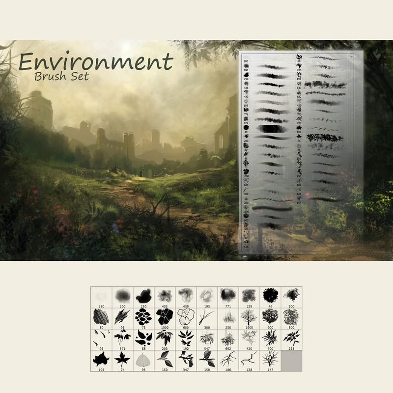 Photoshop brushes environment