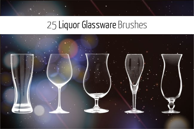 Photoshop brushes pint, glass, glassware