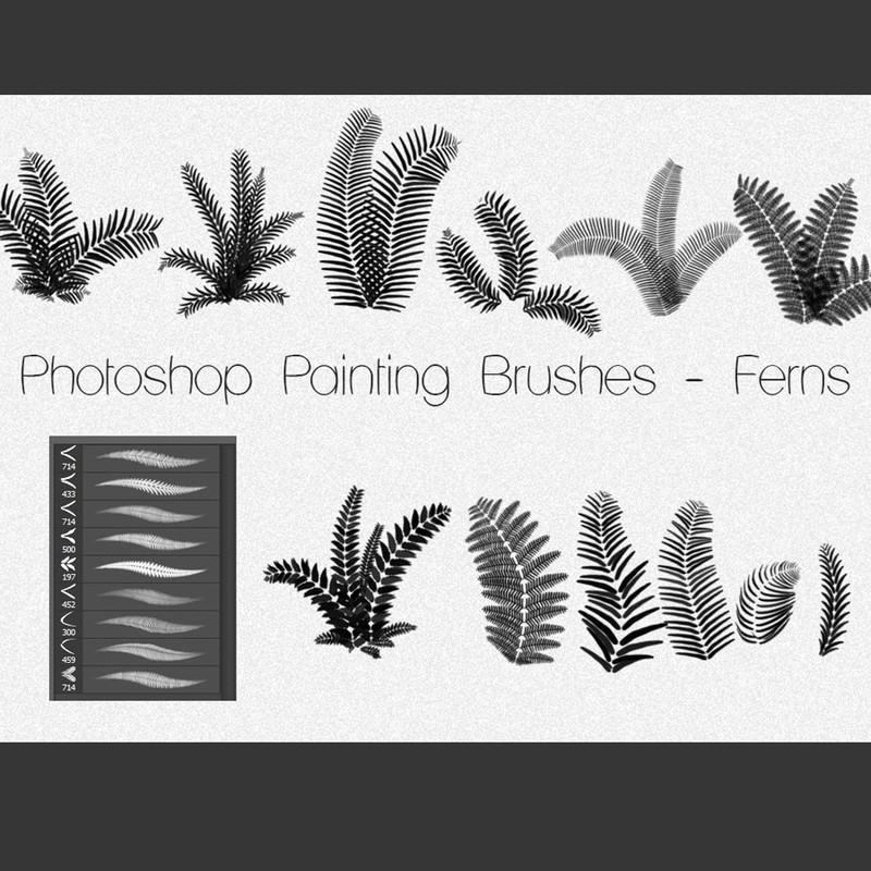 Photoshop brushes ferns