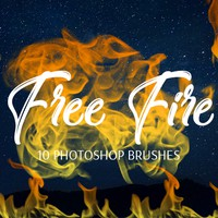 Free Photoshop Fire Brushes by FixThePhoto