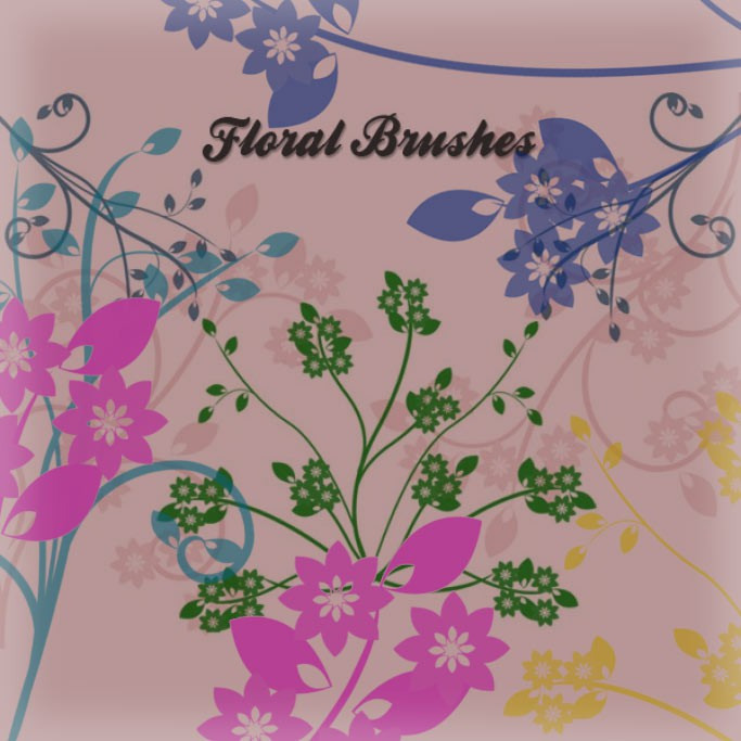 Photoshop brushes floral,texture