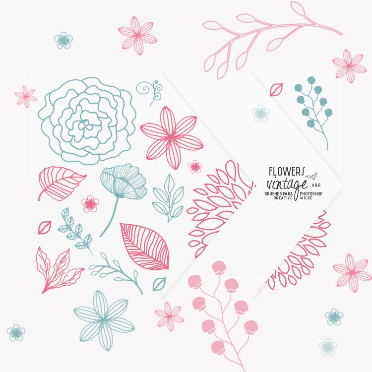 Photoshop brushes cute, flowers,floral