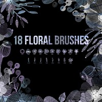 18 Floral PS Brushes