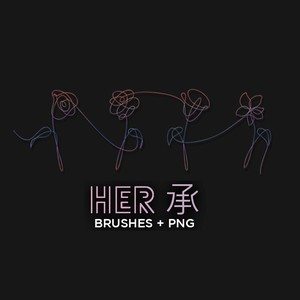 Her Flower Brushes