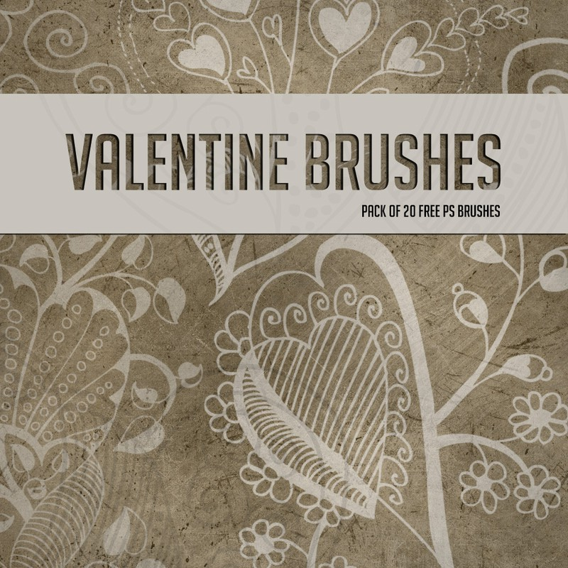 Photoshop brushes floral, valentine