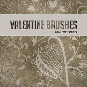 Valentines Day Floral Brushes