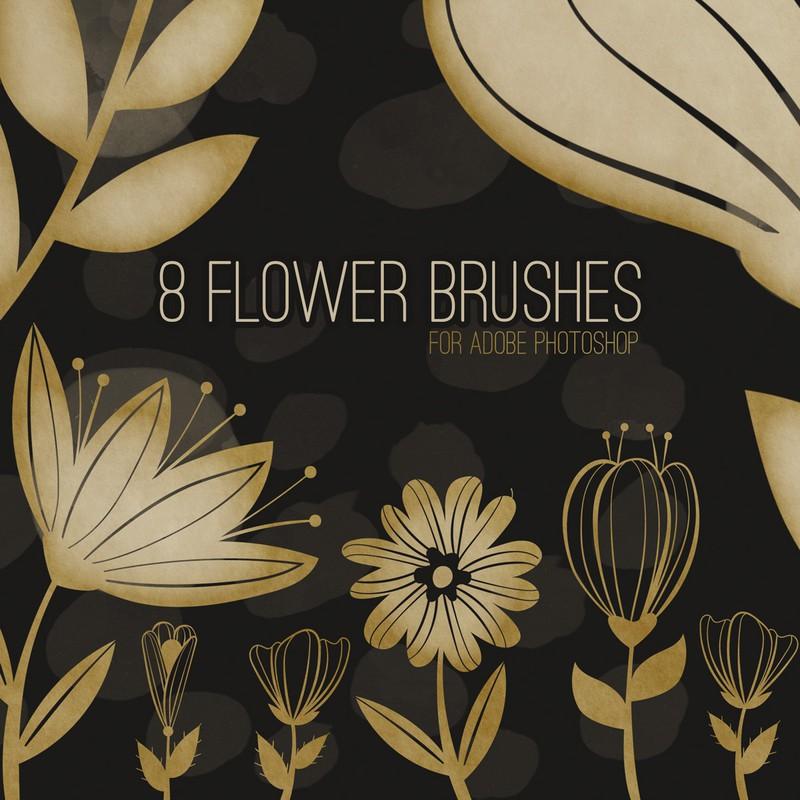 Photoshop brushes flower, nature, spring