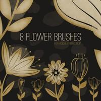 8 Free Flower Brushes