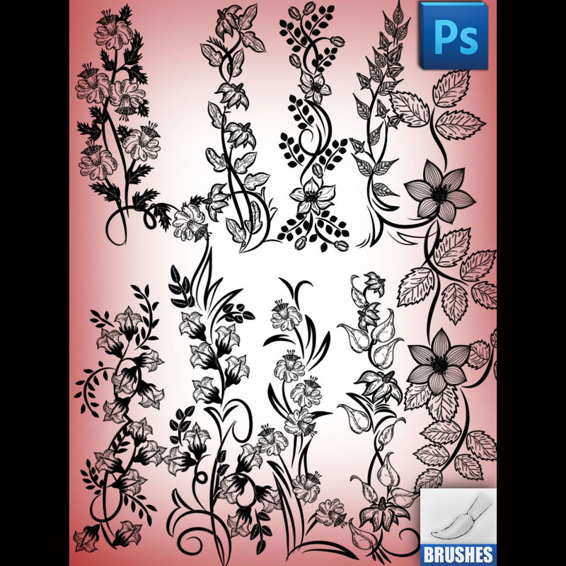 Photoshop brushes flower