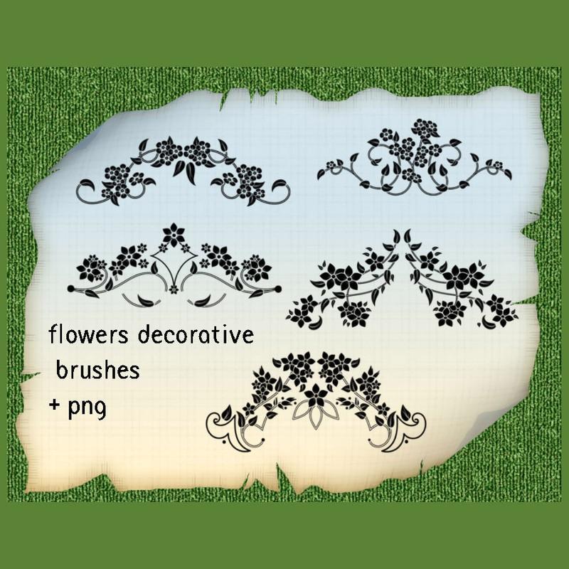 Photoshop brushes flower, ornament