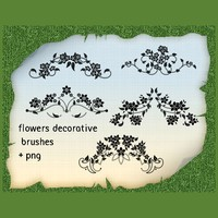 Set of 5 Floral Ornament Brushes