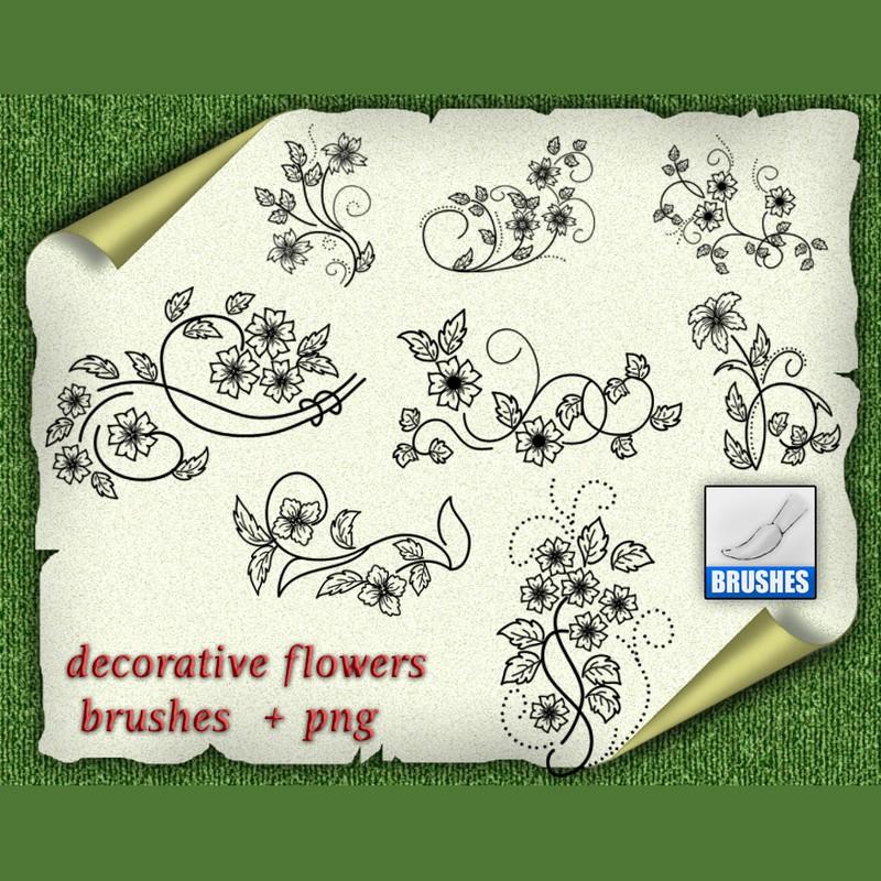 Photoshop brushes floral,decor,swirls
