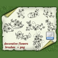 Decorative Flowers Brushes