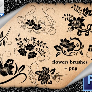 Ornamental Flowers Brushes