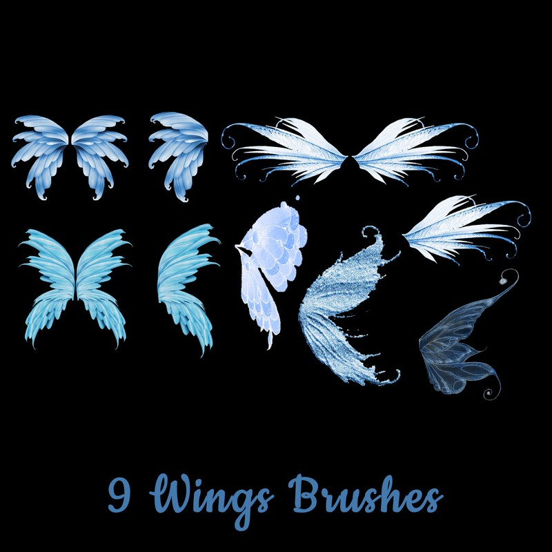 Photoshop brushes fly, wings, magical