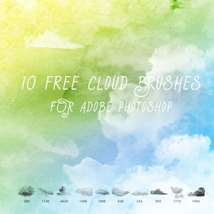 10 Free Cloud Brushes