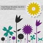 Free Flower Brushes: Set 14
