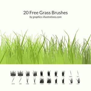 20 Free Grass Brushes