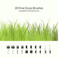 20 Free Grass Brushes