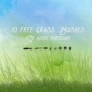 10 Free Grass Brushes