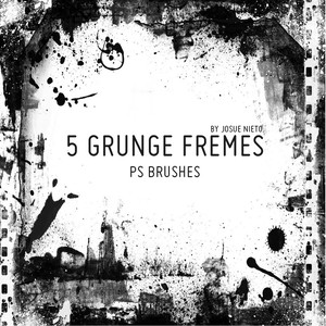 5 Grunge Frames Brushes