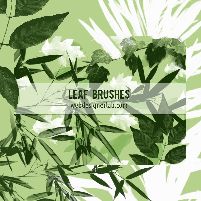 Photoshop brushes leaf