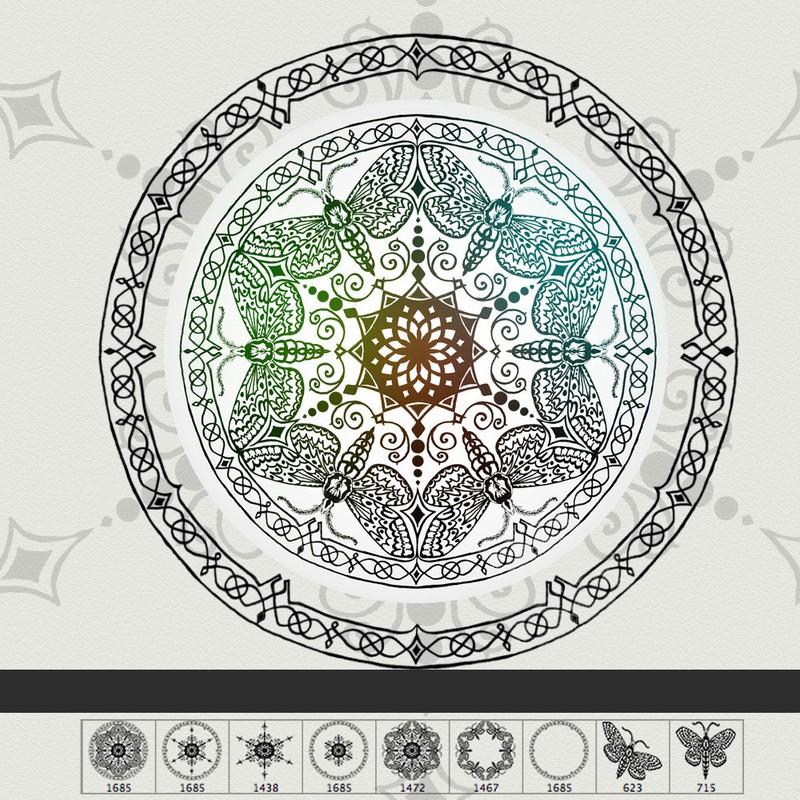 Photoshop brushes mandala