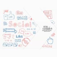 Social cartoon brushes