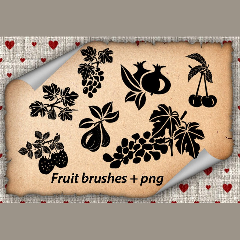 Photoshop brushes fruits, symbol