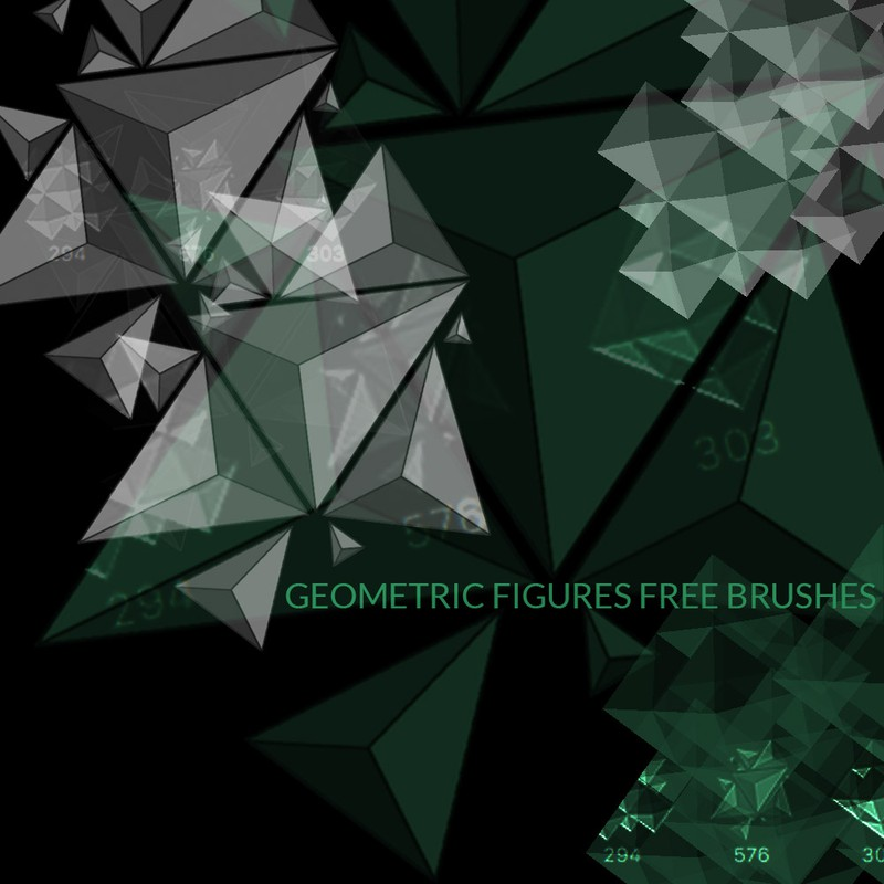 Photoshop brushes geometric, abstract, shapes